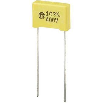 TRU مكونات 1 pc(s) MKS رقيقة فيلم مكثف الرصاص شعاعي 0.01 μF 400 V DC 5 % 10 مم (L x W x H) 13 × 4 × 9 مم