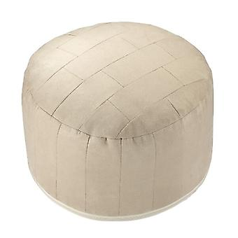 Seat cushion round pouf PATCHWORK Alka champagne 34 x 50 x 50 cm
