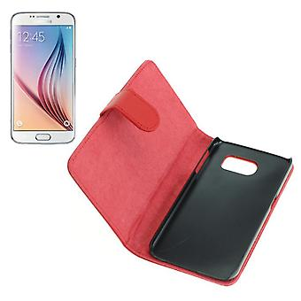 OTB bag (leather) for Samsung Galaxy S6 SM G920 Bookstyle Red