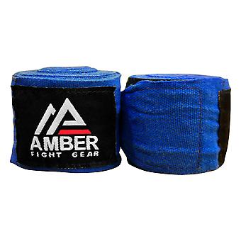 "Amber Boxing Elastic 200"" Mexican Style Stretch MMA Handwraps Blue"