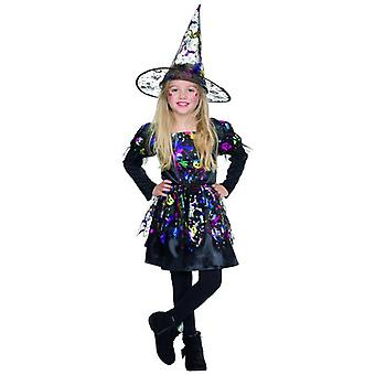 Hexe Lucy Halloween Kostüm Kinder Karneval Witch Kleid