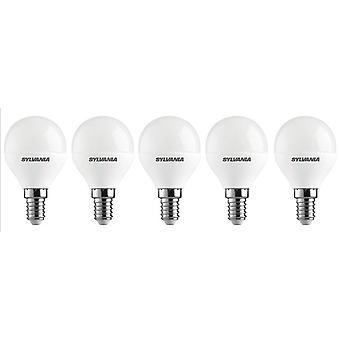 5 x Sylvania ToLEDo Ball E14 V3 5.5wx Tageslicht LED 470lm [Energieeffizienzklasse A +]