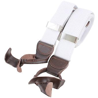 Knightsbridge Neckwear Luxury Braces - White