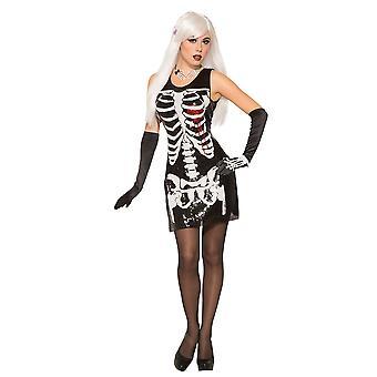 Bnov Skeleton Bleeding Heart Sequin Dress