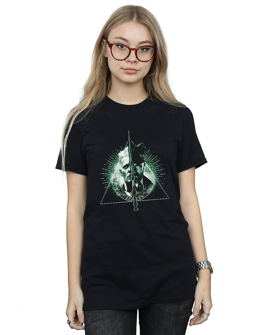 Fantastic Beasts Women's Dumbledore Vs Grindelwald Boyfriend Fit T-Shirt