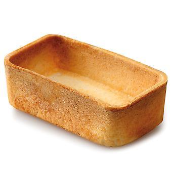 Confiletas Mini Neutral Rectangle Crispy Pastry Cases