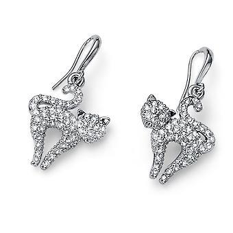 Oliver Weber Earring Catlove Rhodium Crystal