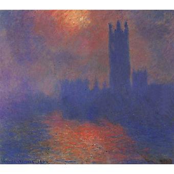 Londres, Parlement, Claude Monet, 60x50cm