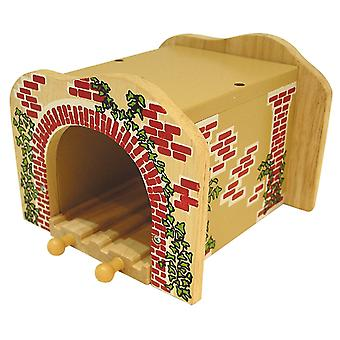 Bigjigs Wooden Railway Double Tunnel