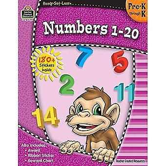 Nombres 1-20, Pre-K par K