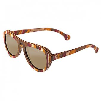 Spectrum Fanning Wood Polarized Sunglasses - Multi/Gold