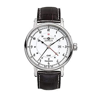 Zeppelin Watches 7546-1-men's wristwatch, leather, color: black