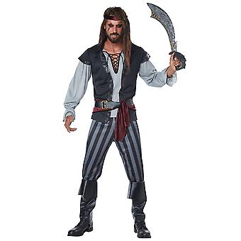 Scallywag pirata spaccone Deluxe Jack Sparrow Mens Costume taglie XXL