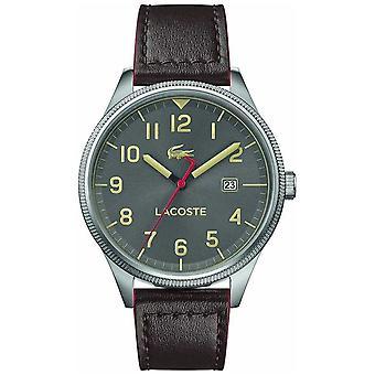 Lacoste | Mens Continental | Brun bracelet cuir | Gris cadran | Watch 2011020