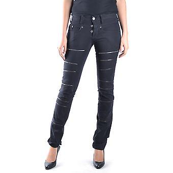 Neil Barrett Ezbc058002 Women's Black Cotton Jeans