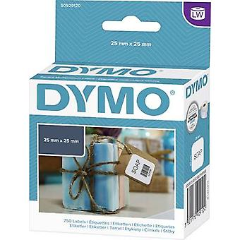 DYMO Label roll S0929120 S0929120 25 x 25 mm Paper White 750 pc(s) Removable All-purpose labels