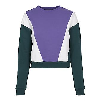 Urban Classics Women's Sweatshirt 3-Tone Arrow Crew