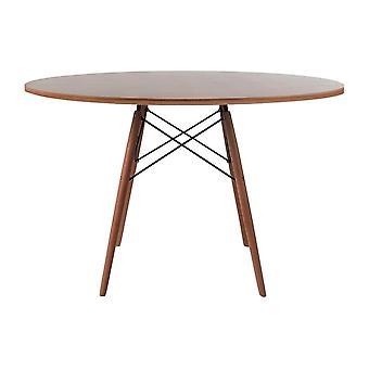 Fusion Living Eiffel Ispirato Grande Noce Circolare Tavolo da pranzo con gambe di legno di noce