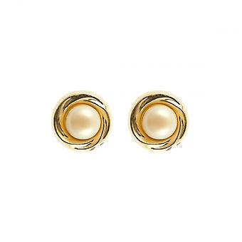 Eternity 9ct Or 7mm Pearl In Gold Stud Boucles d'oreilles
