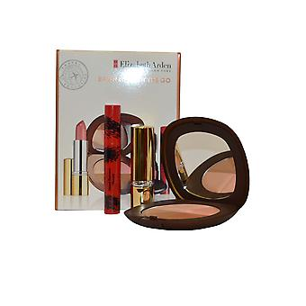 Elizabeth Arden Bronzing on the Go - Lipstick Pink Bronzing Powder 15g Medium, Mascara