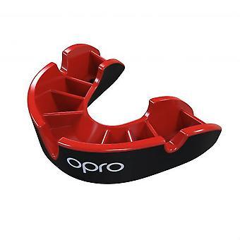 Opro Junior Silber Gen 4 Mund Guard schwarz/rot