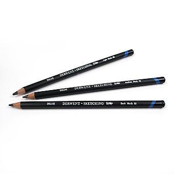 Derwent Water Soluble Sketching Pencils (8B)