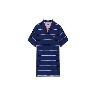 Gant 3-Col Pique poolo paita Rugger College Blue