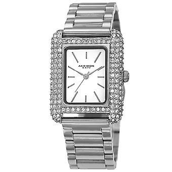 Akribos XXIV AKS191108SS Women ' s Quartz Swarovski täckt armband klocka
