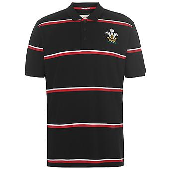 Team Rugby Mens Stripe Polo Shirt Short Sleeve Collar T-Shirt Tee Top