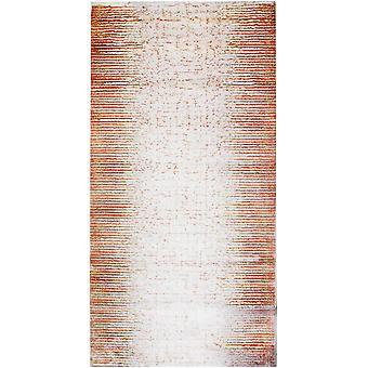 Pierre Cardin design matta i akryl Grädde/Röd