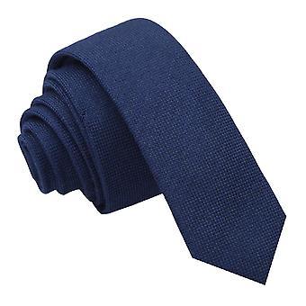 Tummansininen Panama Cashmere villaa laiha solmio