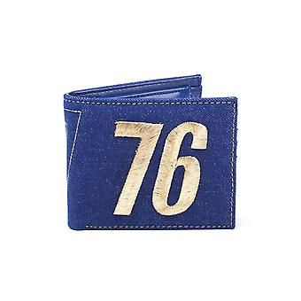 Fallout 76 Wallet Vault 76 Logo Vintage Denim new Official gamer Blue Bifold