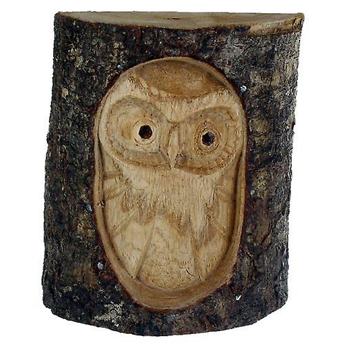 Carved Owl in Tree Trunk 11cm