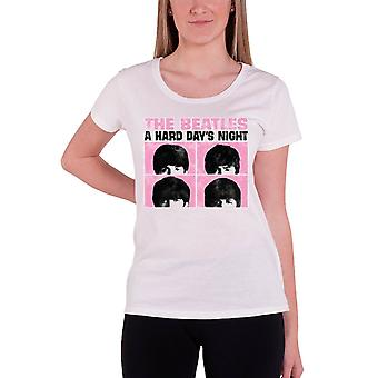 The Beatles T Shirt Hard Days Night Official Womens New Pastel skinny fit