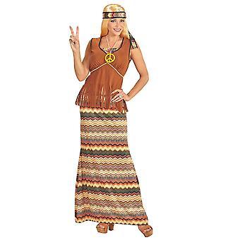 Las mujeres trajes vestido hippie largo para las señoras