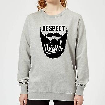 Respect the Beard Women's Sweatshirt - Grey