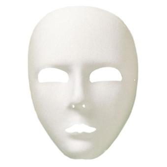 Adulte blanc Viso plein visage Eyemask Fancy Dress accessoire