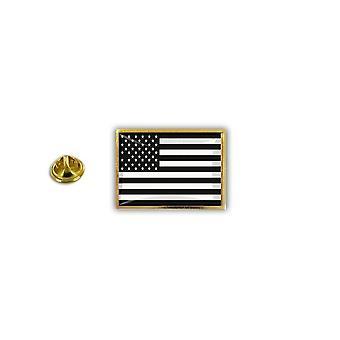 Pine PineS PIN rinta nappi PIN-apos; s Metal epoksi Flag USA Yhdysvallat AmericaBlack