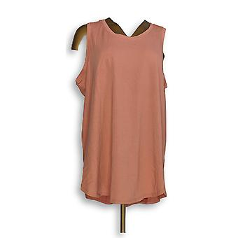 Anybody Women's Sleepshirt Cozy Knit Side Split Tank Top Orange A306950