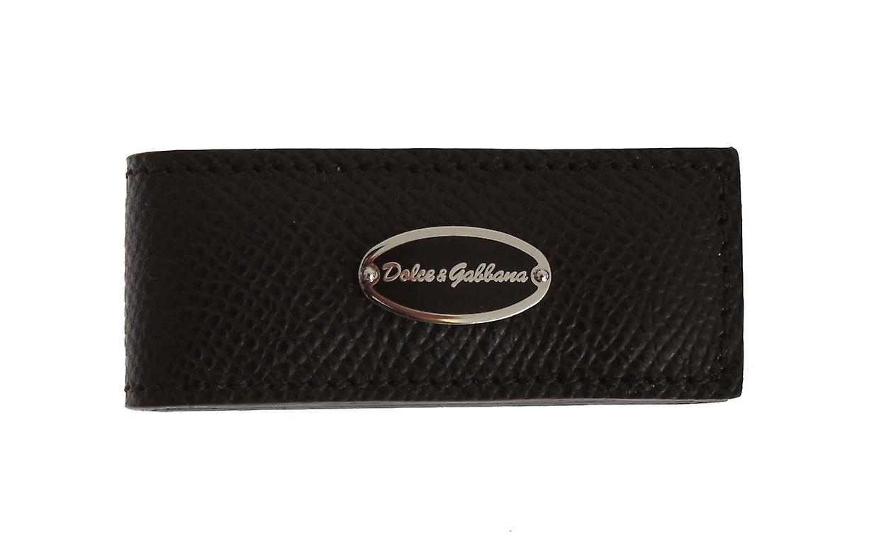 Brown Leather Magnet Money Clip
