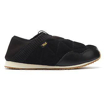 Teva Ember Moc Shearling Womens Black Slippers