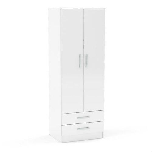 Lynx 2 Door Combi Wardrobe - White