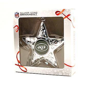New York Jets NFL Sports Collectors Series Silver Star Ornament