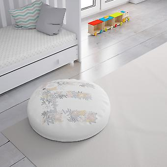 Meesoz Floor Cushion - Letter Girl- E