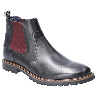 Basis London Mens Wilkes Waxy Pull Op Chelsea Boot Black