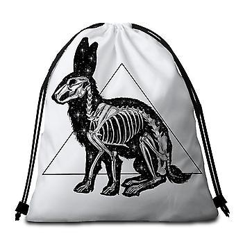 Rabbit Skeleton Beach Towel