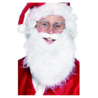 Father Christmas Santa's White Beard Fancy Dress Costume Accessory
