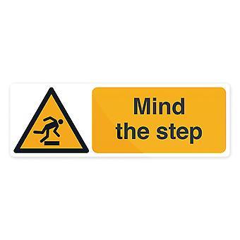 Let op de stap Sign-300x100mm zelfklevend