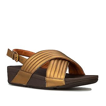 Womens Fitflop Lulu Padded Back Strap Sandals In Bronze