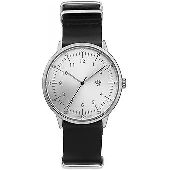 Shows Cheapo 14229HH - mixed black leather watch